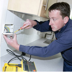 electrician carrying out repairs