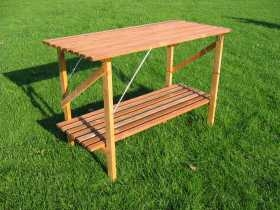 Greenhouse staging wooden garden furniture - Wooden staging for greenhouse ...