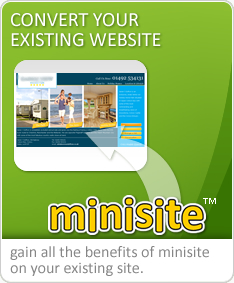 convert your existing site to minisite web design system