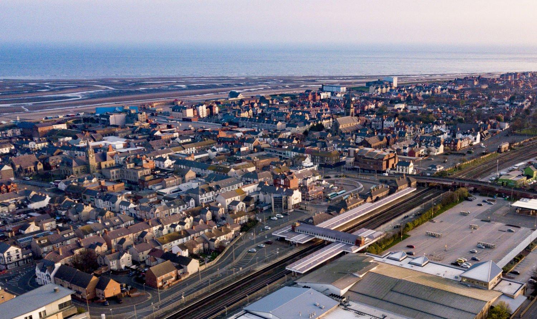 Aerial view Rhyl by Livetech Air