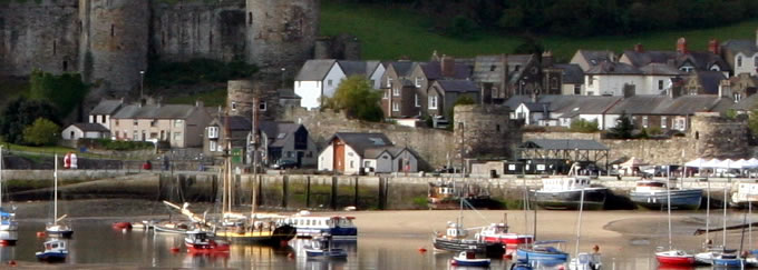 Conwy Quay Castle and Town