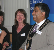Mayor of Colywn Bay Cllr Abdul Khan